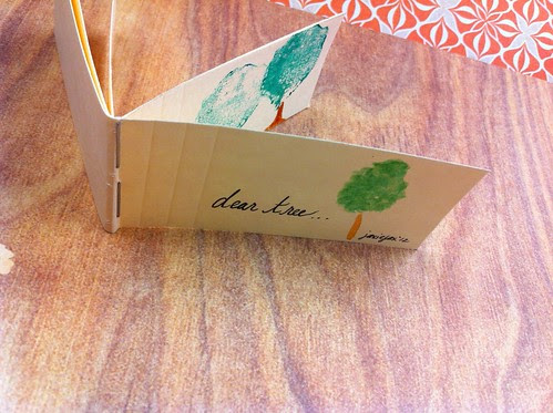 "My first Tiny Red Fox Press self made bookletti. ""dear tree..."" by jaxiejax*"