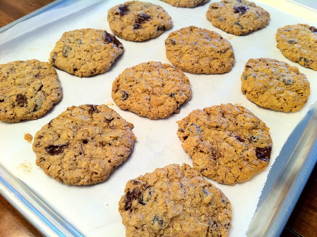 Baked Cookies Cooling on Baking Sheets
