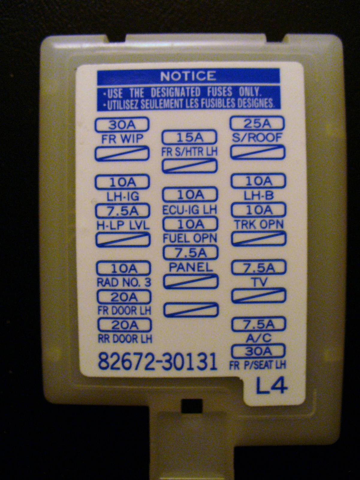Diagram In Pictures Database 2003 Lexus Fuse Box Just Download Or Read Fuse Box Forums Androidz Com Br
