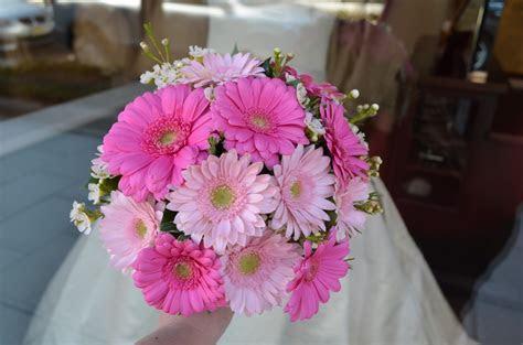 Pink Daisy Wedding Bouquet