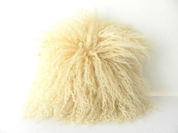 SALE Mongolian Fur Cushion - RetroAndCo