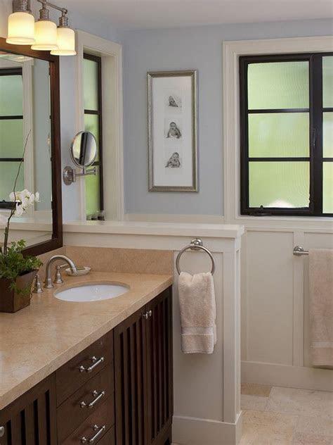 small bathroom  wall height idea master bathroom