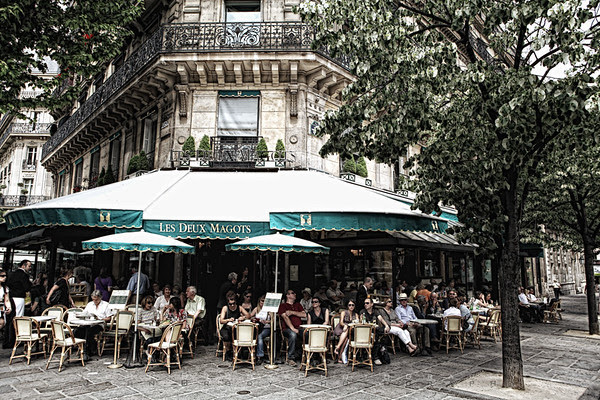 Cafe Les Deux Magots Paris - John Brody Photography - Click for Larger Image - History summary by John Brody