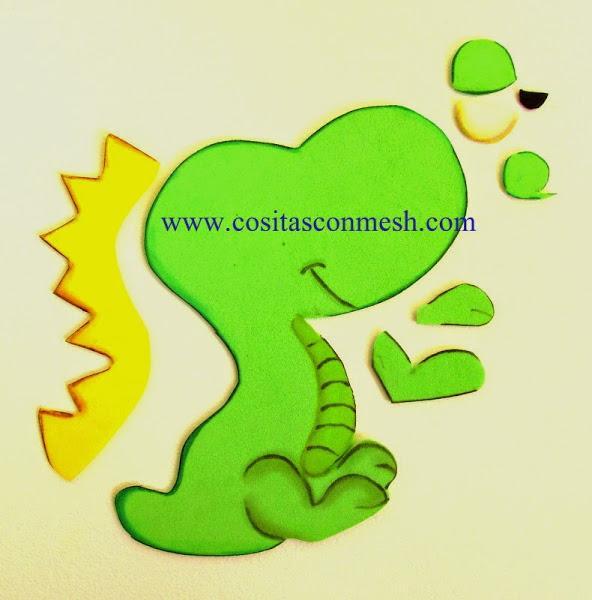 Manualidades para Día del niño: Dulcero dinosaurio
