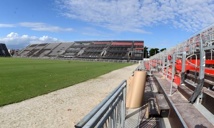 Flamengo Arena da Ilha (Foto: André Durão)