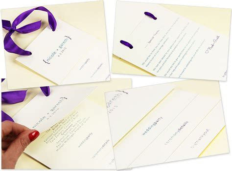 Tiered Wedding Program With Ribbon    DIY Wedding