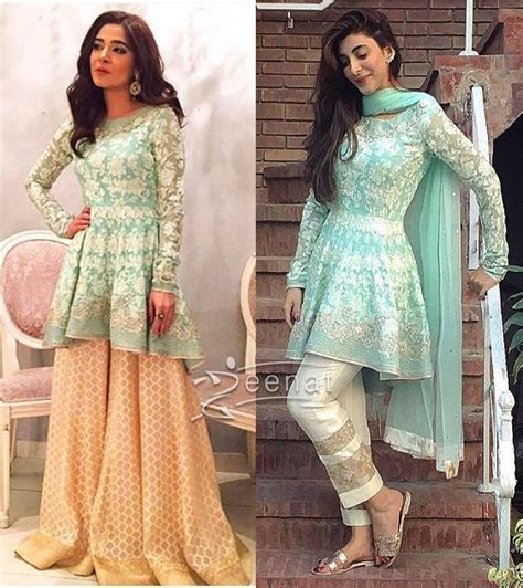 Ayesha Omar and Urwa Hocane in Sania Maskatiya Peplum Top