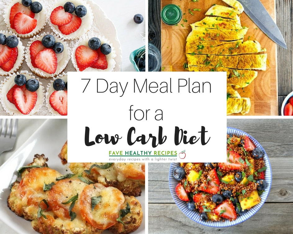 7 Day Meal Plan with all Low Carb Diet Recipes ...