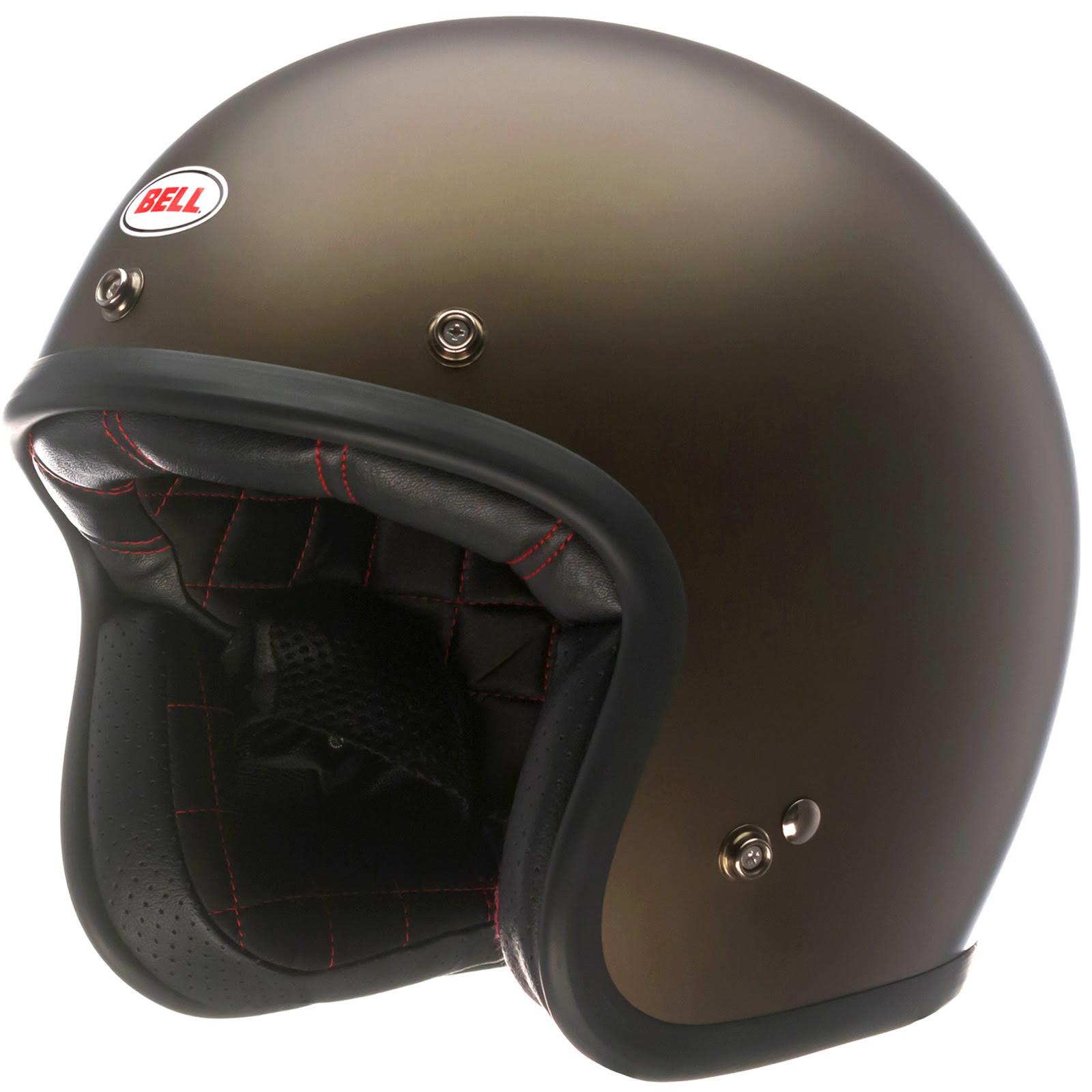 Bell Custom 500 Low Profile Plain Vintage Retro Motorcycle Scooter Bike Helmet  eBay