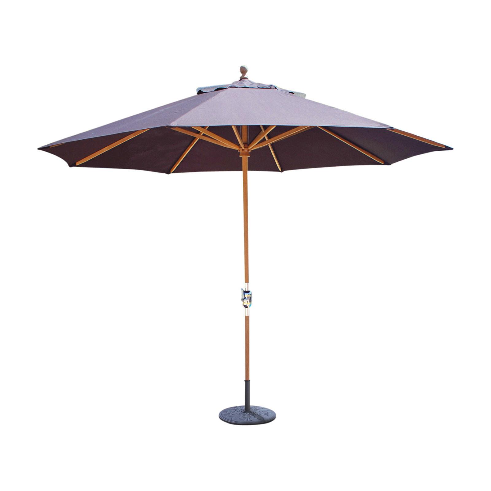 Galtech Sunbrella 11-ft. Classic Teak Patio Umbrella ...