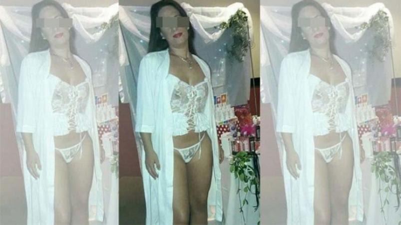 Policía se sacó una foto con lencería erótica.