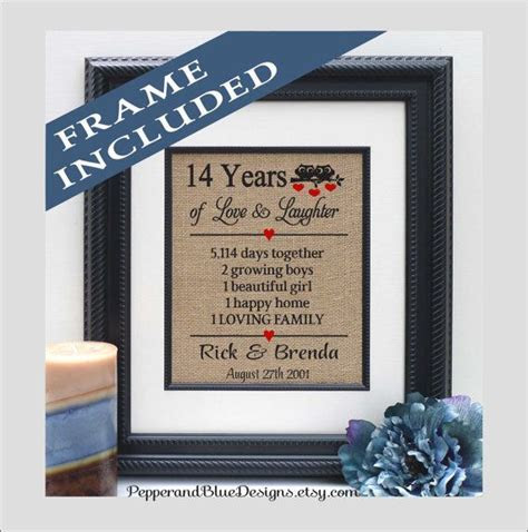 14th wedding anniversary gifts, 14 years married, 14 years