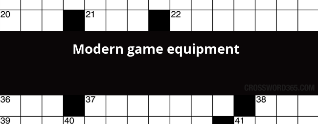 Modern Game Equipment Crossword