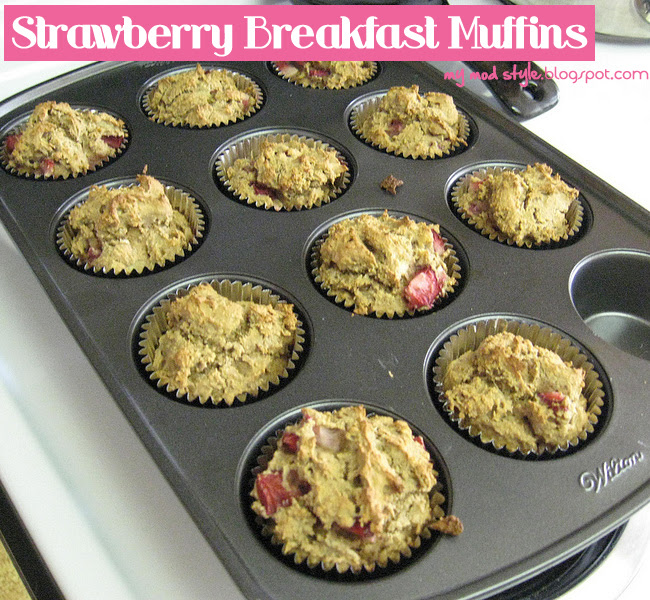 Whole Food Recipe - Strawberry Muffins
