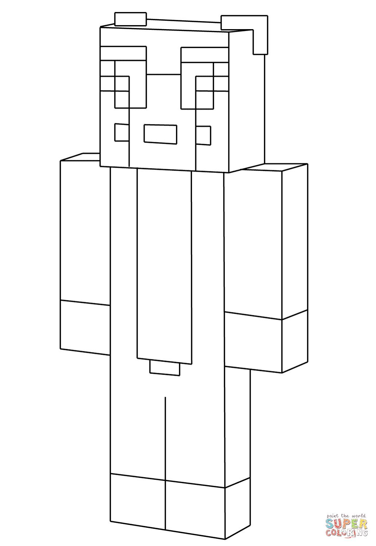 Minecraft Stampylongnose coloring page | Free Printable ...