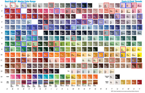 C&C thread color chart