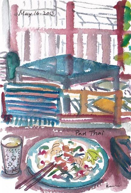 food sketch :Pad Thai