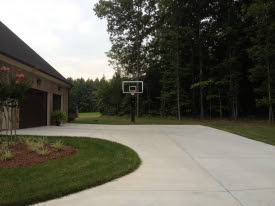 Large Side Load Garage Doubles As Half Court Basketball Goal Photo