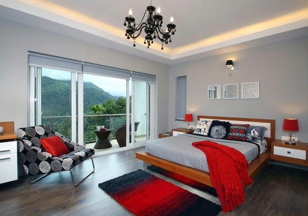 Fashion bedroom wall - color combination and color design ...