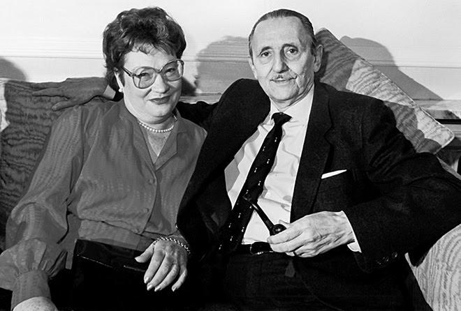 Angelina Gatell y Antonio Buero Vallejo.