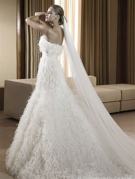 ideas  feather wedding gowns  pinterest