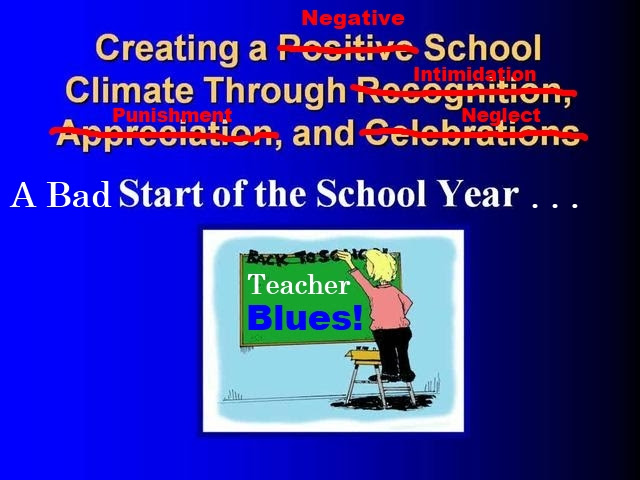 Creating a Negative School Climate
