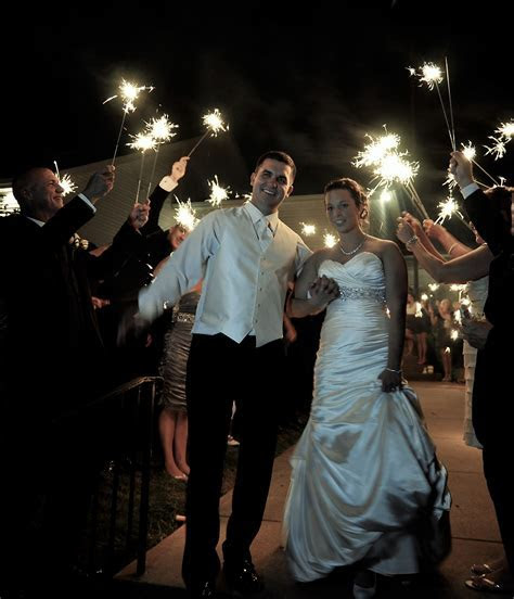 Using Sparklers at Weddings