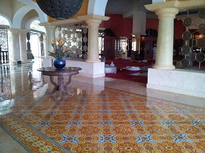 Cuban Heritage Tile in Lobby