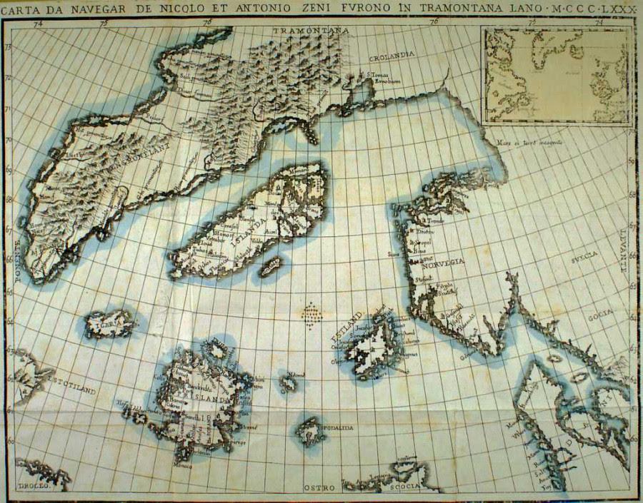 11 Карта Зено 1380 года