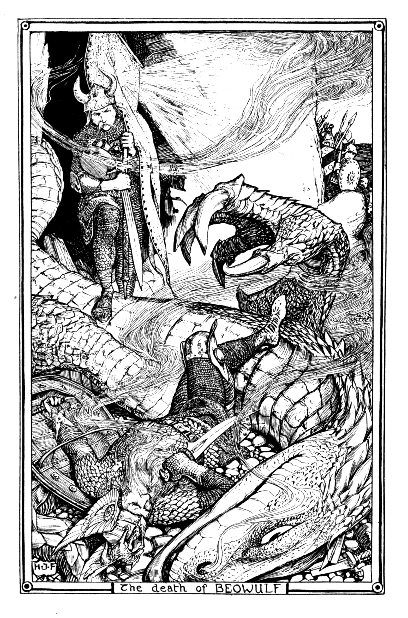 Henry Justice Ford - The red book of animal stories selected and edited by Andrew Lang, 1899 (illustration 8)