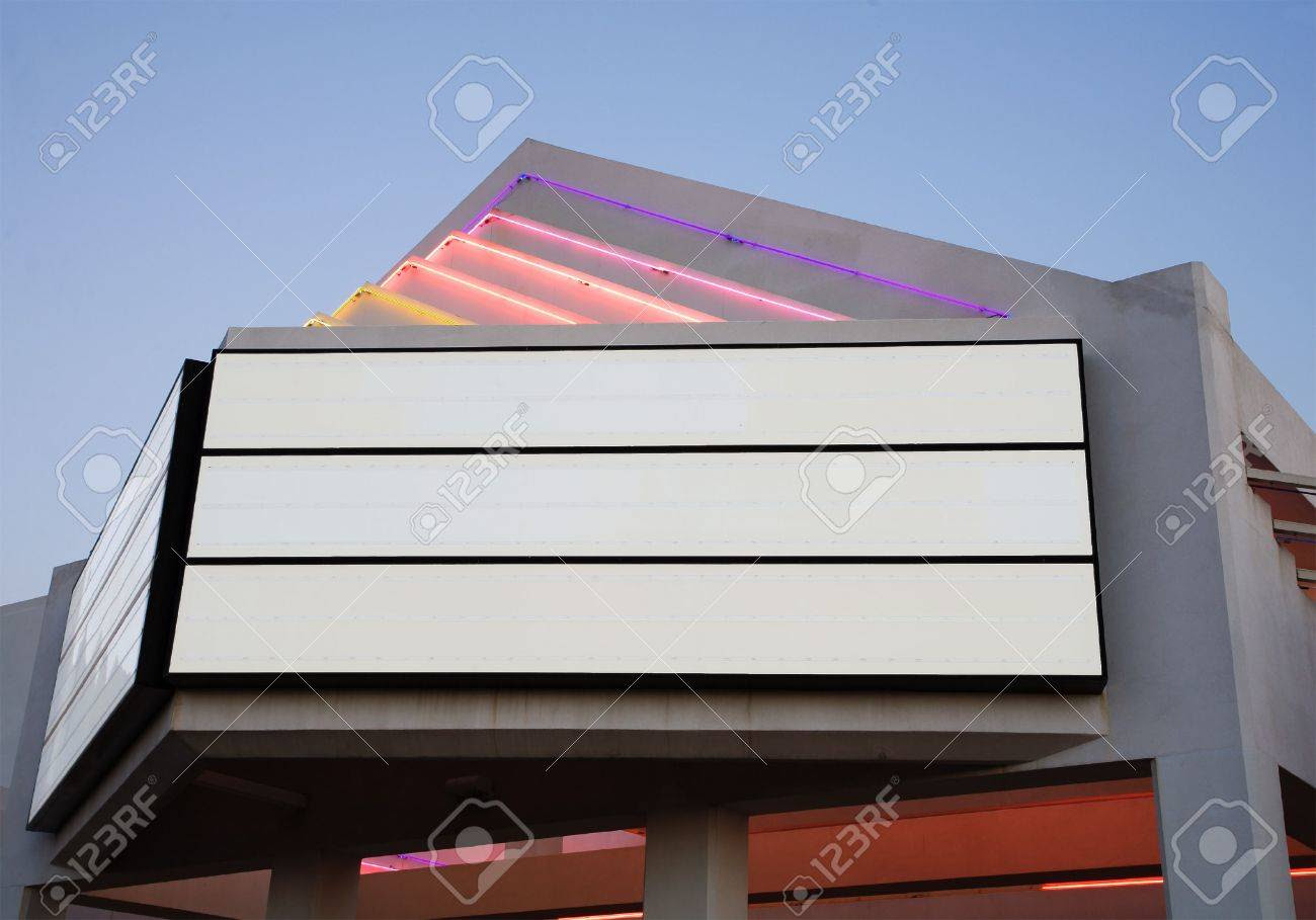 Side View Of Blank Movie Billboard Stock Photo, Picture And ...