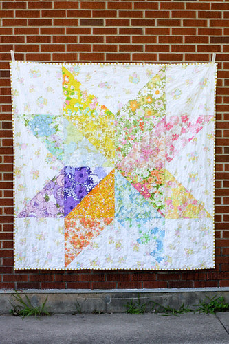 Giant Vintage Star Quilt by jenib320