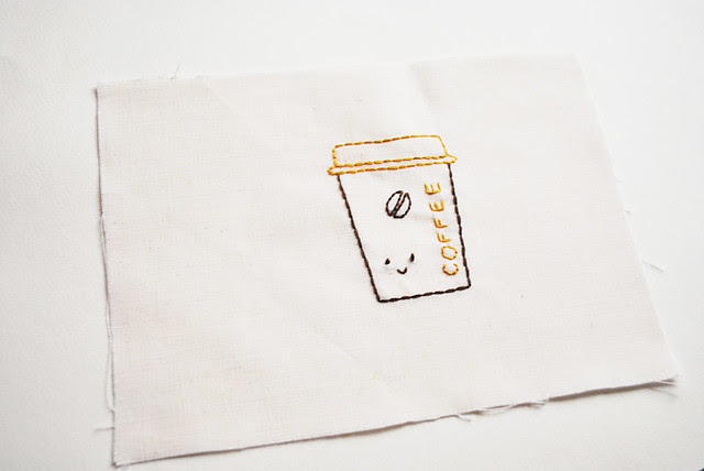 coffee bag : embroidered