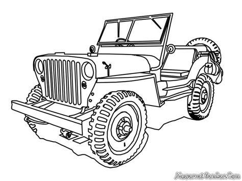 Gambar Sketsa Mobil Arsiptembinet