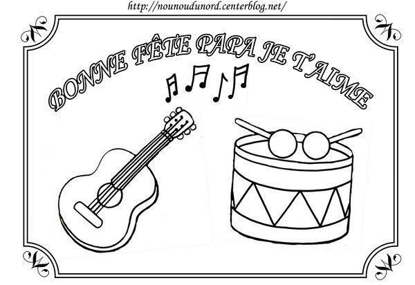 Coloriage à Imprimer Coloriage Instruments De Musique 006