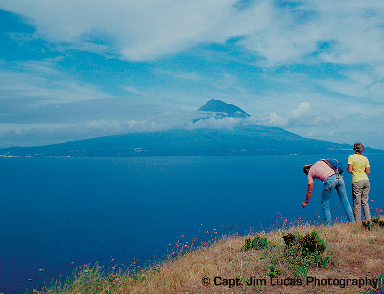 Pico - taken from the island of Faial, Azores - Portugal - Taken with a Nikon EL with a 75-150 Nikkor Zoom Lens - Kodachrome 64 ASA film - scanned with a Plustek OpticFilm 7200 slide