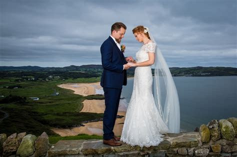 donegal wedding photographer bride and groom at portsalon