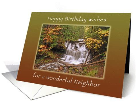 Happy Birthday Wishes for Neighbor, Wagner Waterall in