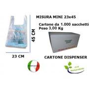 Shopper Sacchetti Biodegradabili 1000 Pezzi