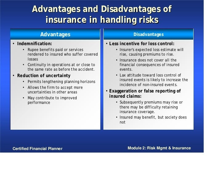 King of INSURANCE: Advantages & Disadvantages of Insurance