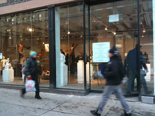 "Outside ""Apollo,"" Sabin Howard's pop-up sculpture exhibit"