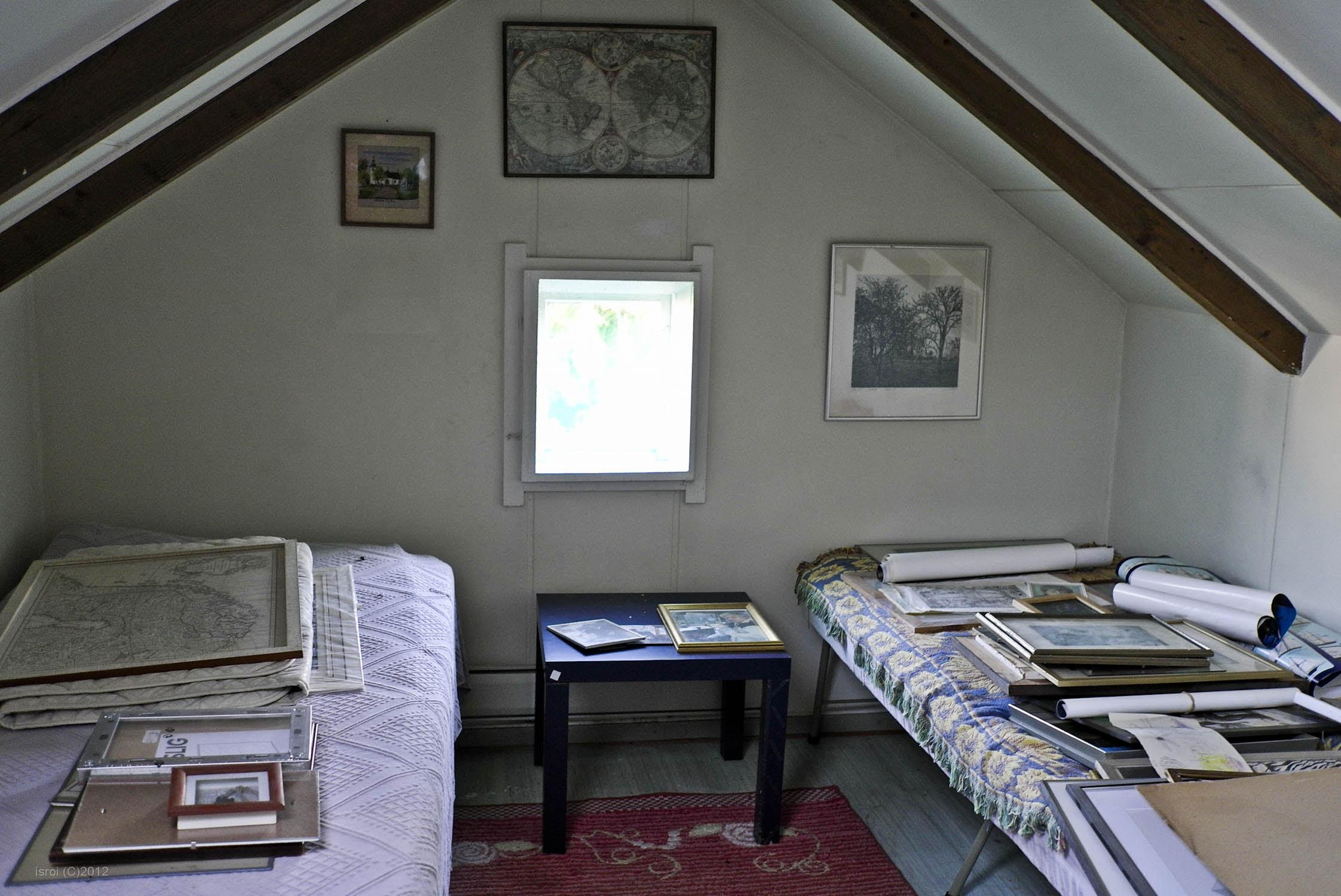 Kamar Tidur Loteng Sederhana Interior Rumah