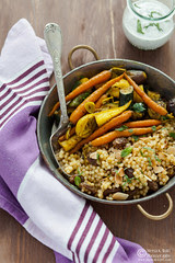 Turmeric Slow Roasted Veggies Couscous Pilaf 0050