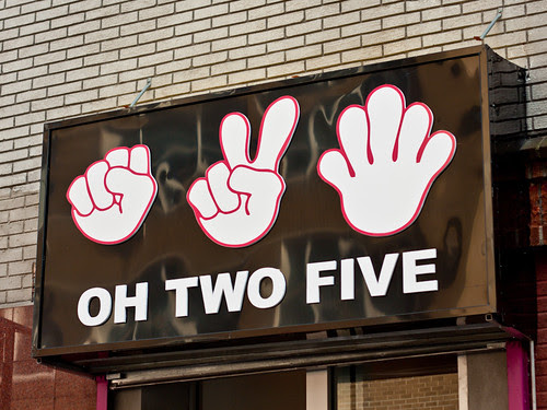 Oh-two-five signage