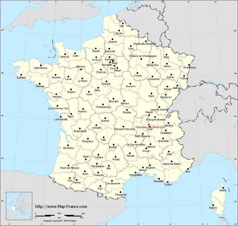 Road Map Poleymieux Au Mont Dor Maps Of Poleymieux Au Mont Dor 69250