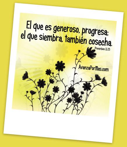 Imagen El Que Es Generoso Progresa El Que Siembra Tambien