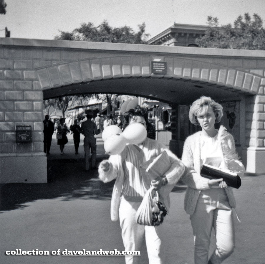 Disneyland Entrance May 1964 photo