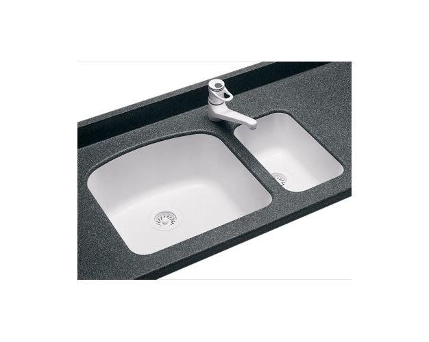 Swanstone us 1711010 white swanstone kitchen sinks kitchen for Swanstone undermount sinks