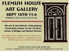 front of postcard for the Flemish House Gallery