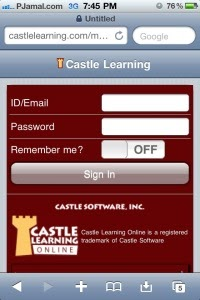 Castlelearning.com Mobile version
